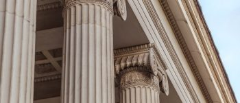 Vintage Old Justice Courthouse Column